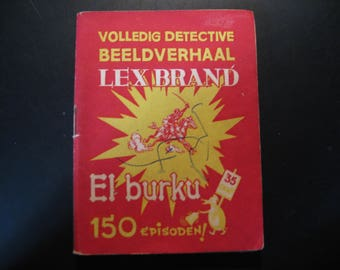 Vintage cartoon Lex Brand,El burku... 1948