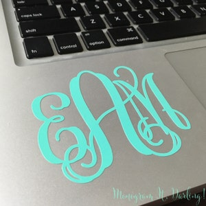 Monogram Sticker Decal - many styles, colors, and uses!