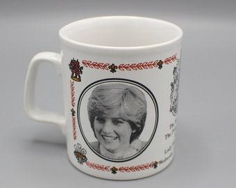 Commemorative Mug Royal Wedding Marriage 1981 Prince Charles and Lady Diana Ceramic