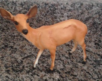 Breyer Molding Co. Collectible Large Plastic Doe Deer Figure for Display or Play