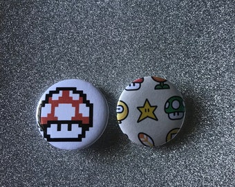 Super Mario Button/Pin Set