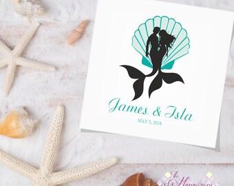 Mermaid Logo Wedding Monogram Event, Under the Sea, Monogram Custom, Logo Event, Wedding Design, Logo Design Monogram, Wedding Stationery