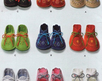 Felt Baby Booties Sewing Embroidery Pattern One Size Vintage 1948  Sewing Pattern Reprint Simplicity 2867 UNCUT