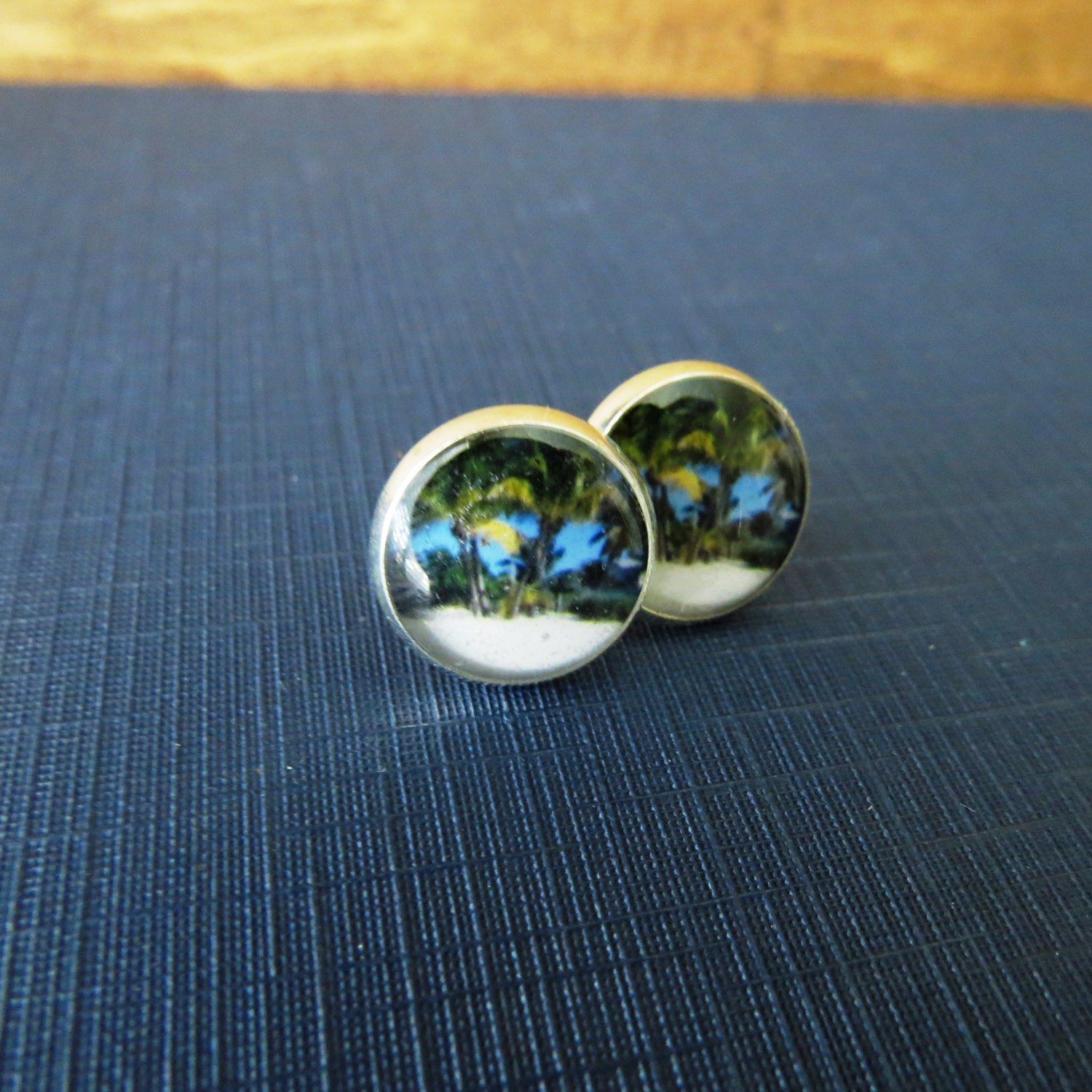 handmade silver dolphin stud earrings sterling pin jewelry ocean beach gift
