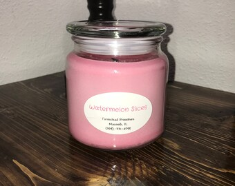 Watermelon Slice 16 oz. Soy Candle, scented candle, spring and summer scent