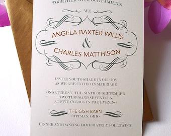 Vintage Inspired Wedding Invitations