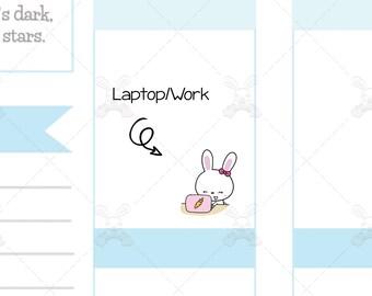 Binky & Foo Foo - Laptop/Work - Bunny Stickers - B11