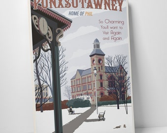 Punxsutawney Home Of Phil Gallery Wrapped Canvas Print