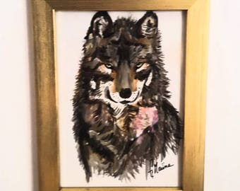 Wild Wolf, painting.