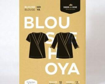 Hoya Blouse- Deer and Doe Patterns