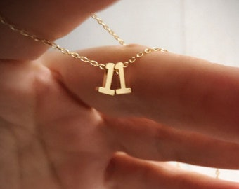 Number Necklace, numbers necklace, personalized number necklace, gold numbers, monogram necklace