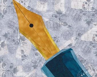 Make Art - Fountain Pen - Paper Piecing