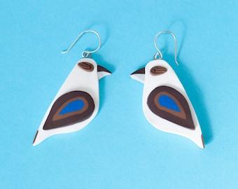 Kookaburra Earrings - Sterling Silver - Australiana
