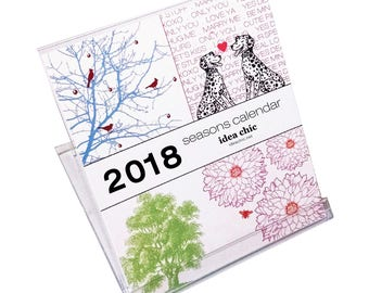 2018 Seasons Desk Calendar