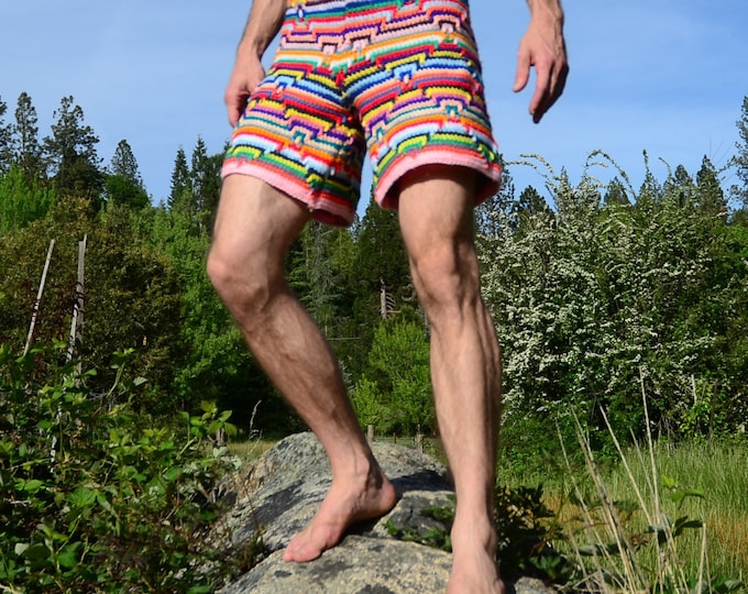 Crochet Shorts Rainbow Apache Southwest XL