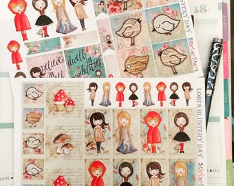 Lori's Blustery Day Planner Layout Stickers