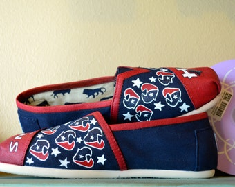 Houston Texans - Hand painted Toms