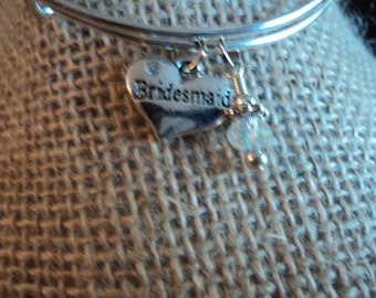 Bridesmaid charm bracelet