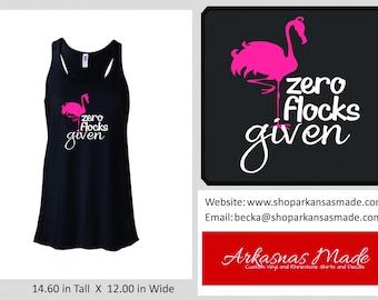 Zero Flocks Given Bella flowy racerback tank top, beach tank top, flamingo tank, summer tank, spring break tank, vacation tank, to 2x