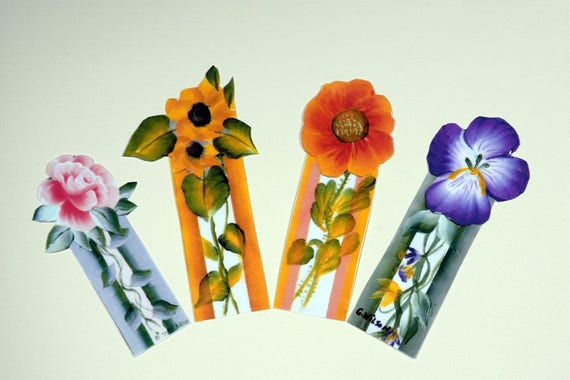 Flowers In Bloom Book Marks