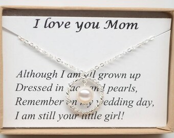 Mother Of The Bride-Wedding  necklace-Gift from bride-Enternity necklace-infinity necklace-Mother wedding gift-Gift for Mom-Stepmother gift