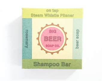 Beer Soap, Shampoo Bar made with Steam Whistle Pilsner
