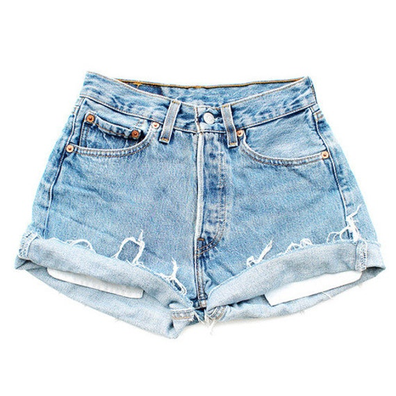 Vintage Light High Waisted Shorts by Etsy