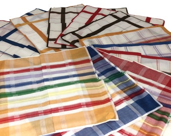 Assorted Plaid Handkerchief (12 pack)