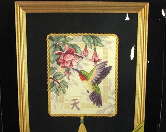 Hummingbird Bird Counted Cross Stitch Kit New Unopened Gold Nuggets Dimensions Cottage Chic Decor Farmhouse French Country