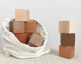 Wooden Baby Blocks, Building Blocks, Stacking Toy, Natural Organic Baby Toy, Sorting Toy, Eco Friendly Toys, Educational Toys, Montessori