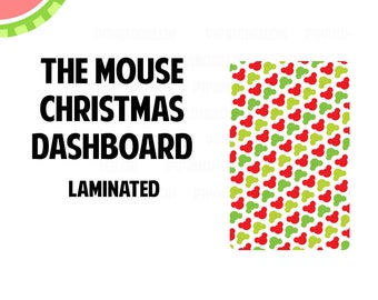THE MOUSE Christmas Laminated Dashboard for Traveler's Notebook | .3mil | DB056