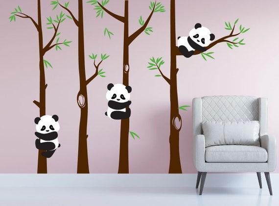 Chambre de b b panda ours arbre mur chambre denfant sticker Chambre bebe panda