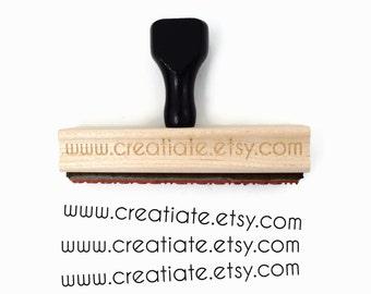 Custom Website URL Stamp | Wood Mounted Website Rubber Stamp