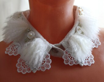 necklace collar lace furs