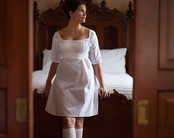 Regency Short Stays, Cotton Sateen Half Stays Historical Costume Corset Jane Austen Era Underpinning - Ready to Ship Standard Sizes