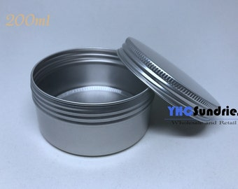 10pcs - 250ml Screw Lidded Blank Metal Tin Round Box *TB250ML*