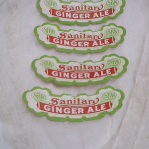 Vintage Sanitary Ginger Ale Labels-Ephemera-12 pieces-New Old Stock