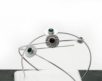 Large Hoop Earrings, Silver Hoop Earrings, Boho Hoop Earrings,  Silver Wire Minimal Dainty Earrings, Simple Earrings, Earrings Gift for Her