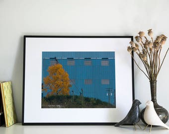 Turquoise Warehouse, Photographic Print, 11x14