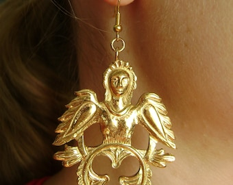 Silver Gold-plated Earrings.