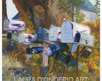 Mailboxes Giclee Print, Artwork by Laura D'Onofrio