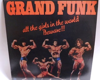 Grand Funk All the girls in the world beware - Vintage Vinyl Record Album 1974 Capitol SO-11356 EX/NM