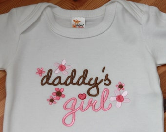 Personalized Embroidered Baby Onepiece Bodysuit or T-Shirt - Daddy's Girl