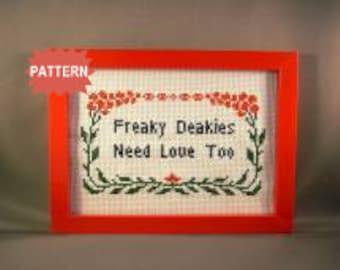 PDF/JPEG Freaky Deakies Need Love Too - 30 Rock (Pattern)