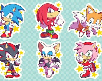 Sonic the Hedgehog All-Stars Sticker Sheet