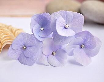 lilac hair flowers Purple wedding accessory Hydrangea Purple Lilac Hydrangea Hair Pin Wedding hair pin Bride flower pin bridal hair jewelry