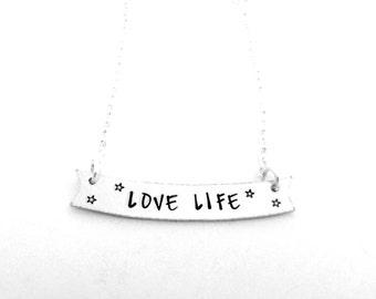 Love Life Banner Necklace