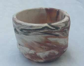Unglazed Pottery Small Bowl Decorative Container