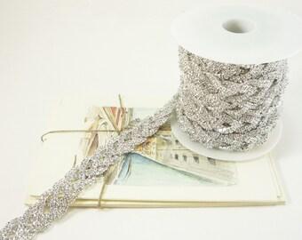 Strass argent noeud celtique garniture, garniture de cristal clair, garniture de mariée strass, chaîne de strass, strass Applique, 20mm (Qté 1 Yard)
