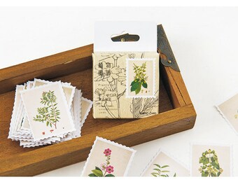 Diary Scrapbook Sticker Label Seal Post Post Plant Stamp (45 stickers)
